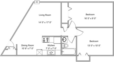2 Bedrooms 1 Bathroom Apartment for rent at White Bear Terrace in White Bear Lake, MN