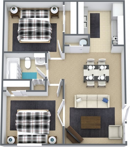 2 Bedrooms 1 Bathroom Apartment for rent at Jefferson Place East in Kansas City, MO