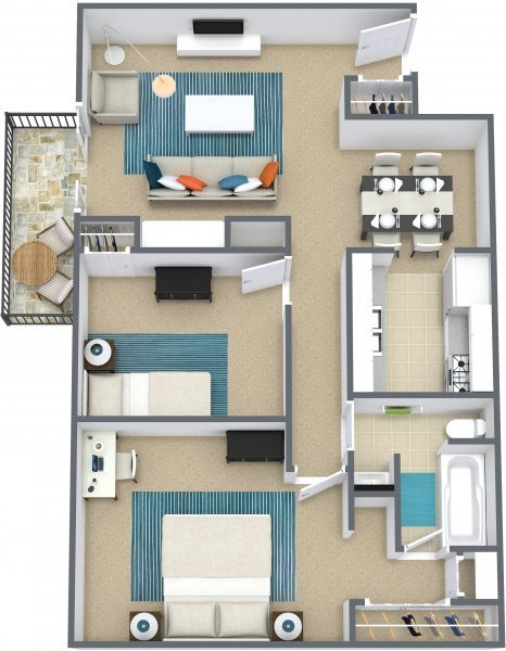 2 Bedrooms 1 Bathroom Apartment for rent at The Reserve at the Knolls in Omaha, NE
