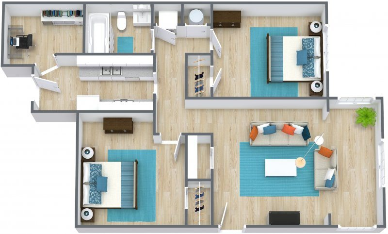 2 Bedrooms 1 Bathroom Apartment for rent at Brush Creek Apartments in Kansas City, MO