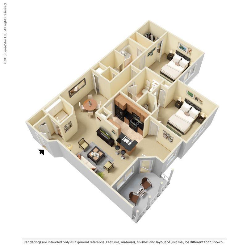 2 Bedrooms 2 Bathrooms Apartment for rent at Indigo Park in Baton Rouge, LA