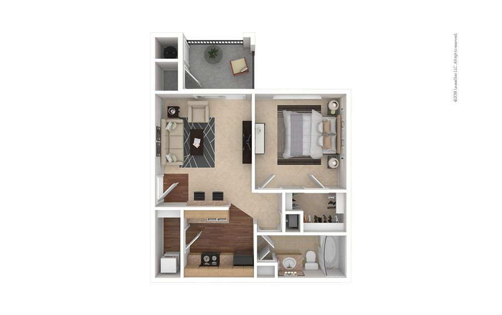 1 Bedroom 1 Bathroom Apartment for rent at Estates At Southpark Meadows in Austin, TX