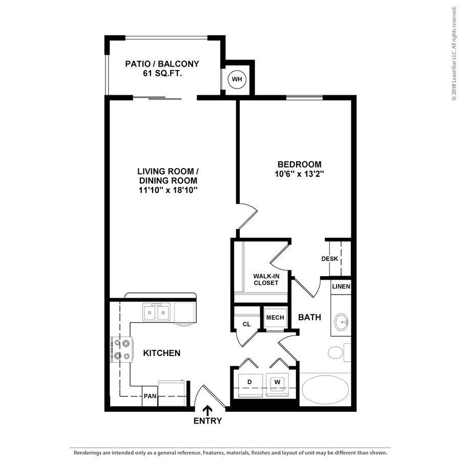 1 Bedroom 1 Bathroom Apartment for rent at Terraces At Southpark Meadows in Austin, TX