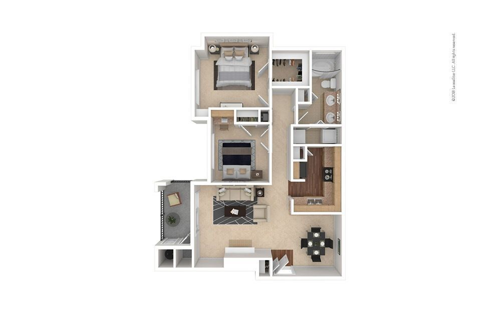 2 Bedrooms 1 Bathroom Apartment for rent at Estates At Southpark Meadows in Austin, TX