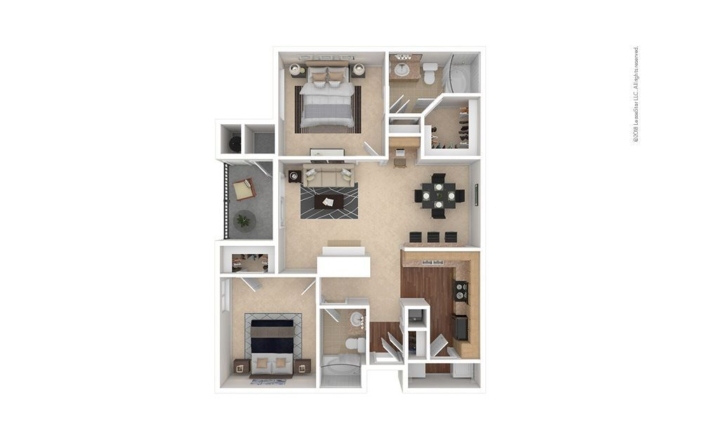 2 Bedrooms 2 Bathrooms Apartment for rent at Estates At Southpark Meadows in Austin, TX