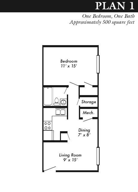 1 Bedroom 1 Bathroom Apartment for rent at Ashton Place in Junction City, KS