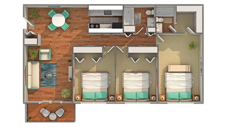 3 Bedrooms 2 Bathrooms Apartment for rent at Renew Madison in Madison, WI
