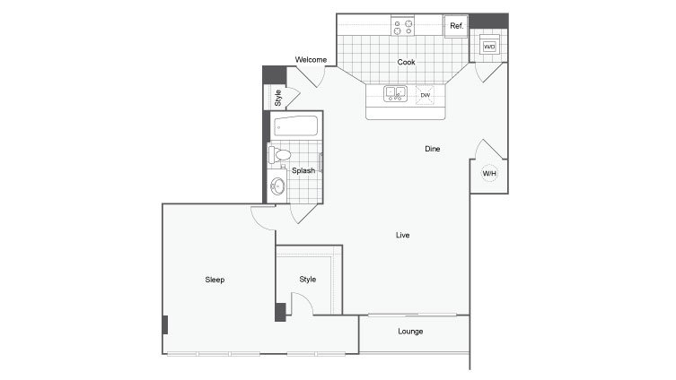 1 Bedroom 1 Bathroom Apartment for rent at Dwell Atl Luxury Apartments in Atlanta, GA