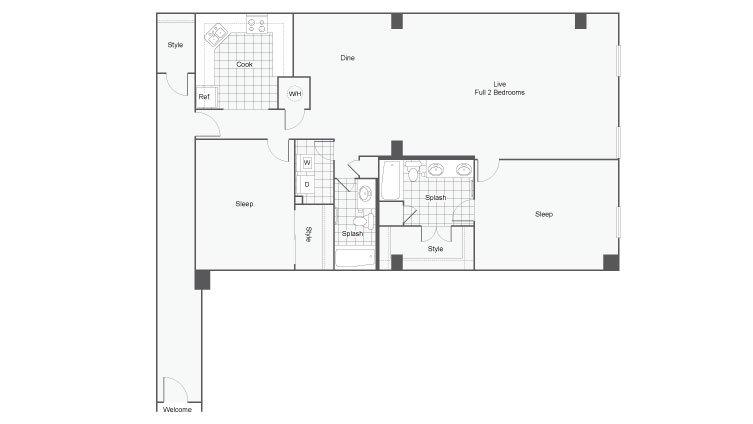 2 Bedrooms 2 Bathrooms Apartment for rent at Dwell Atl Luxury Apartments in Atlanta, GA