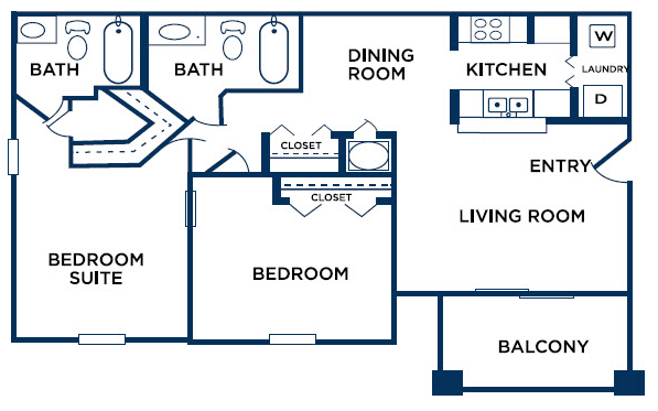 2 Bedrooms 2 Bathrooms Apartment for rent at The Ashford at Stone Ridge in College Park, GA