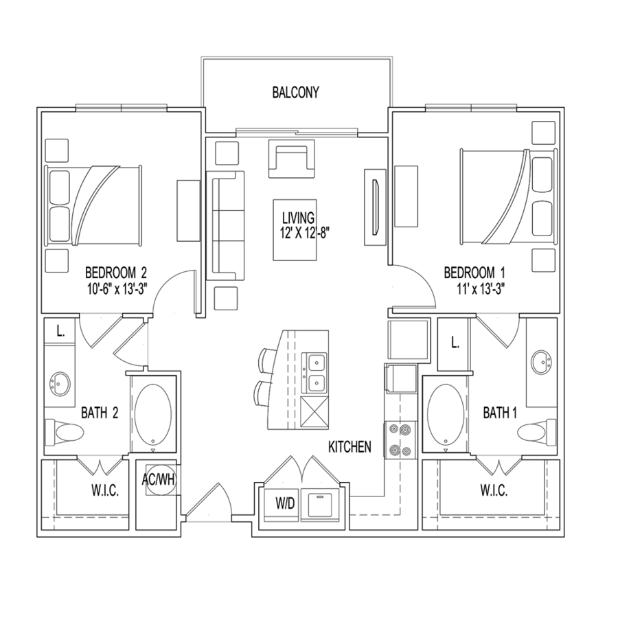 2 Bedrooms 2 Bathrooms Apartment for rent at Village At Palm Center in Houston, TX