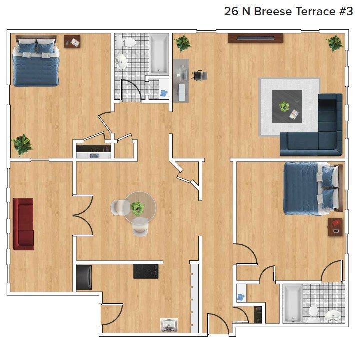 2 Bedrooms 2 Bathrooms Apartment for rent at 26 North Breese Terrace in Madison, WI