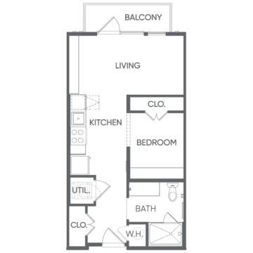 Studio 1 Bathroom Apartment for rent at Portrait At Hance Park in Phoenix, AZ