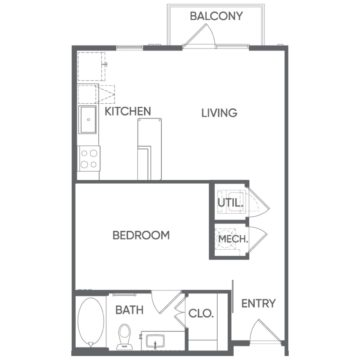 1 Bedroom 1 Bathroom Apartment for rent at Portrait At Hance Park in Phoenix, AZ