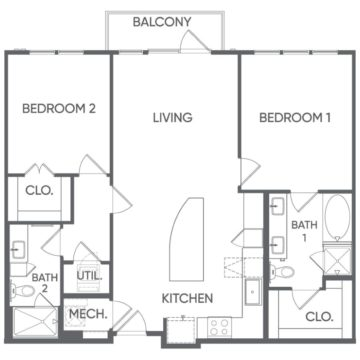 2 Bedrooms 2 Bathrooms Apartment for rent at Portrait At Hance Park in Phoenix, AZ