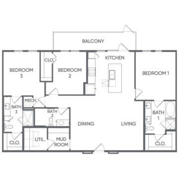 3 Bedrooms 3 Bathrooms Apartment for rent at Portrait At Hance Park in Phoenix, AZ