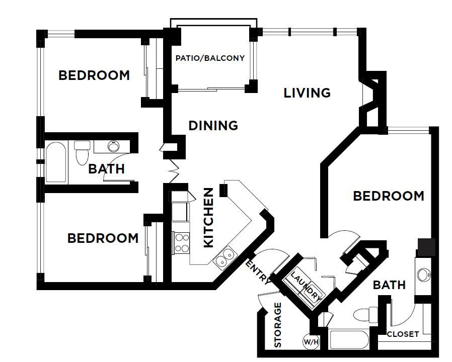 3 Bedrooms 2 Bathrooms Apartment for rent at The Ingleside Apartments in Phoenix, AZ