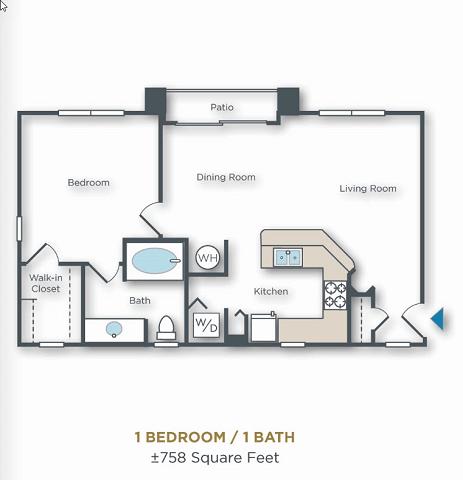 1 Bedroom 1 Bathroom Apartment for rent at Vue Park West in Peoria, AZ