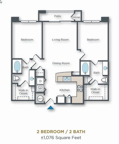 2 Bedrooms 2 Bathrooms Apartment for rent at Vue Park West in Peoria, AZ