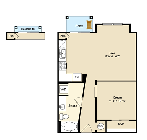1 Bedroom 1 Bathroom Apartment for rent at Arthouse in Keller, TX