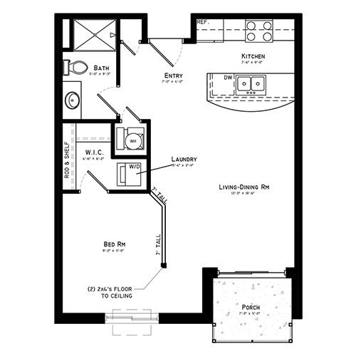 Studio 1 Bathroom Apartment for rent at The Sterling Apartments At Grand Is in Grand Island, NE