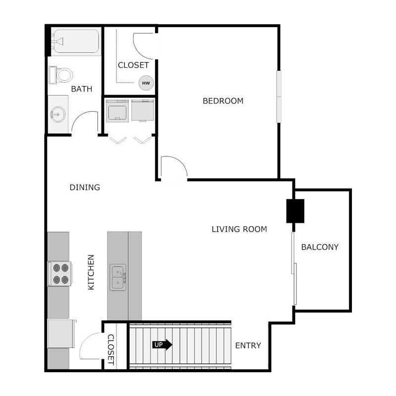 1 Bedroom 1 Bathroom Apartment for rent at Country Creek Estates in Fond Du Lac, WI