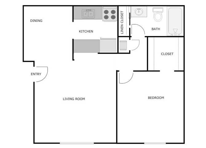 1 Bedroom 1 Bathroom Apartment for rent at Courtyard Apartments in Fond Du Lac, WI