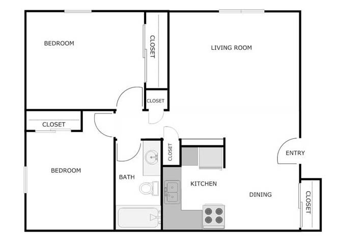 2 Bedrooms 1 Bathroom Apartment for rent at Courtyard Apartments in Fond Du Lac, WI