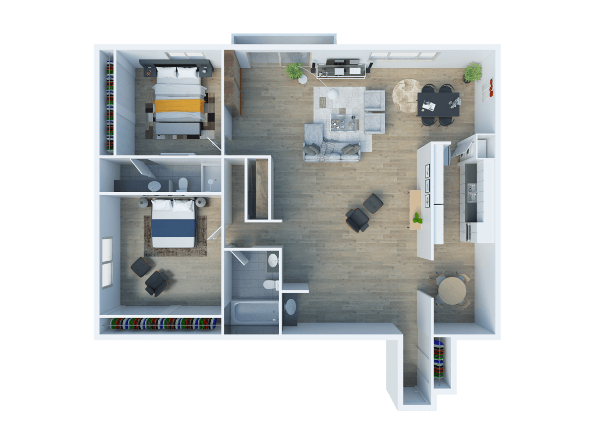 2 Bedrooms 2 Bathrooms Apartment for rent at The Fulton Sherman Oaks in Sherman Oaks, CA