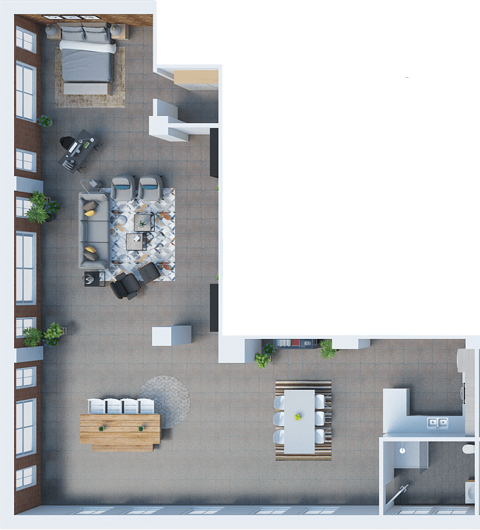 Studio 1 Bathroom Apartment for rent at Santa Fe Lofts in Los Angeles, CA