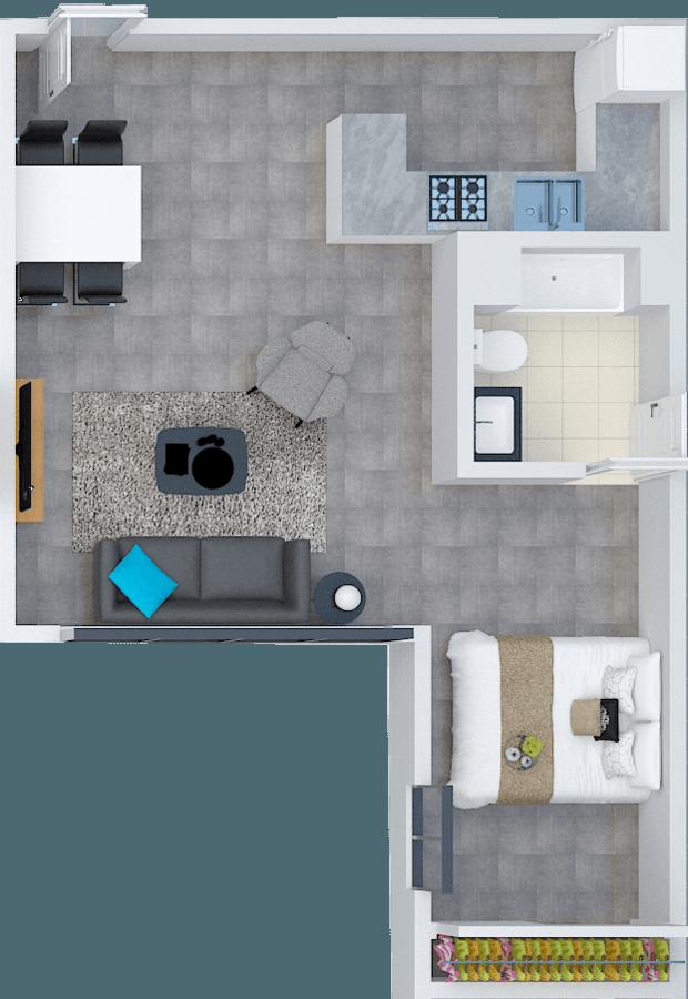 1 Bedroom 1 Bathroom Apartment for rent at Santa Fe Lofts in Los Angeles, CA