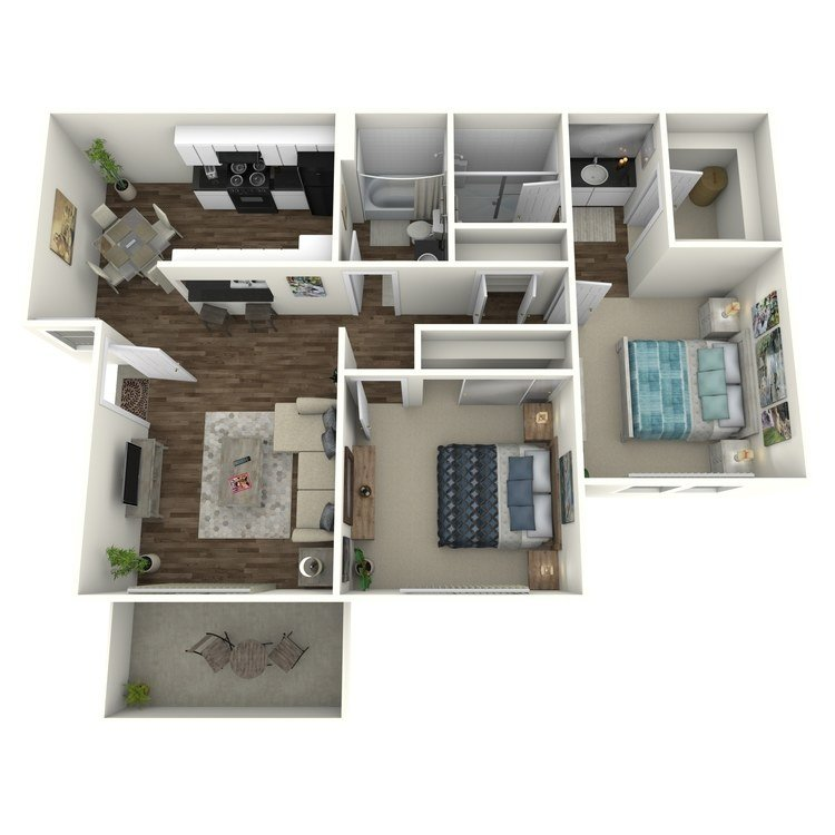 2 Bedrooms 2 Bathrooms Apartment for rent at Country Hills Apartment Homes in Brea, CA