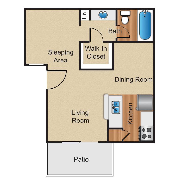 Studio 1 Bathroom Apartment for rent at Monte Verde Apartment Homes in Anaheim, CA