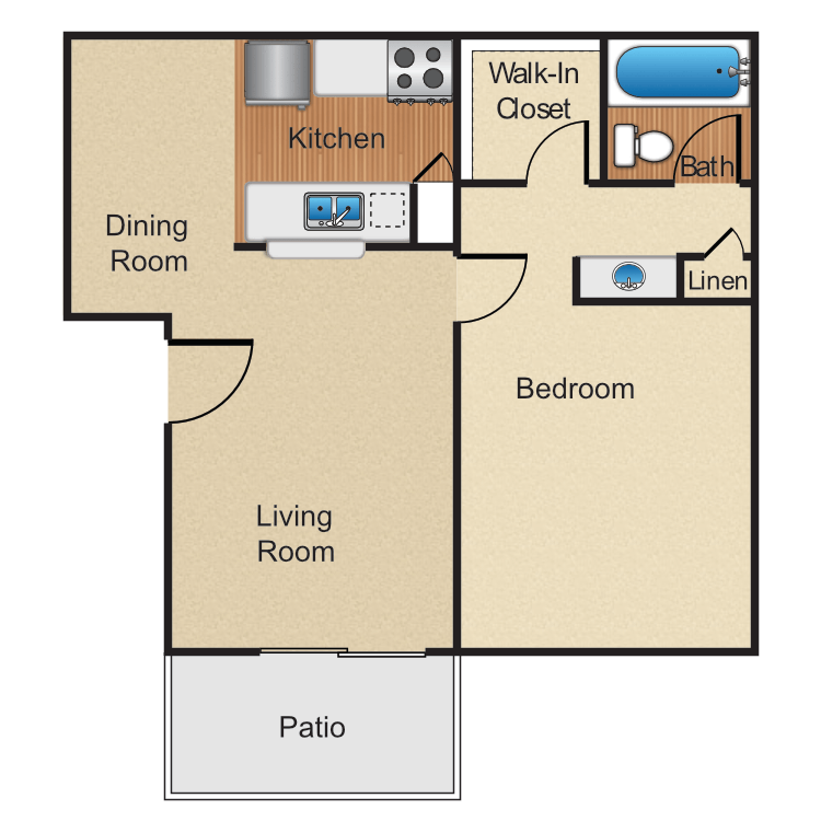 1 Bedroom 1 Bathroom Apartment for rent at Monte Verde Apartment Homes in Anaheim, CA