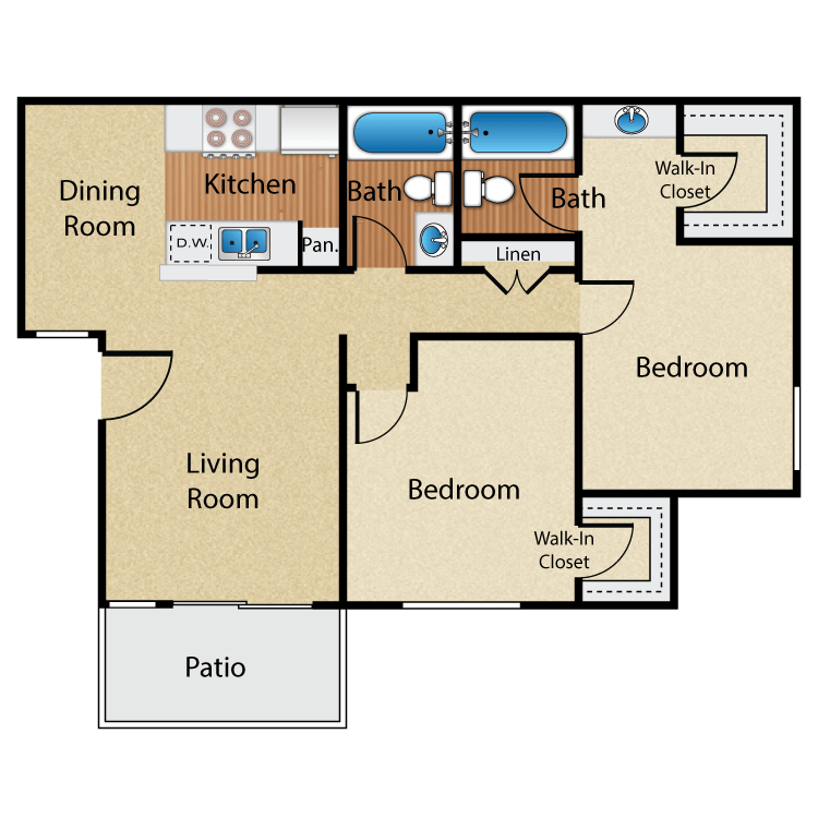 2 Bedrooms 2 Bathrooms Apartment for rent at Maplewood Apartment Homes in Brea, CA