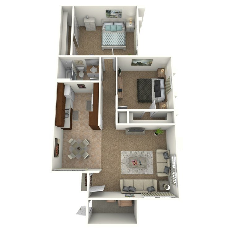 2 Bedrooms 1 Bathroom Apartment for rent at Pacific Woods Apartment Homes in Fountain Valley, CA