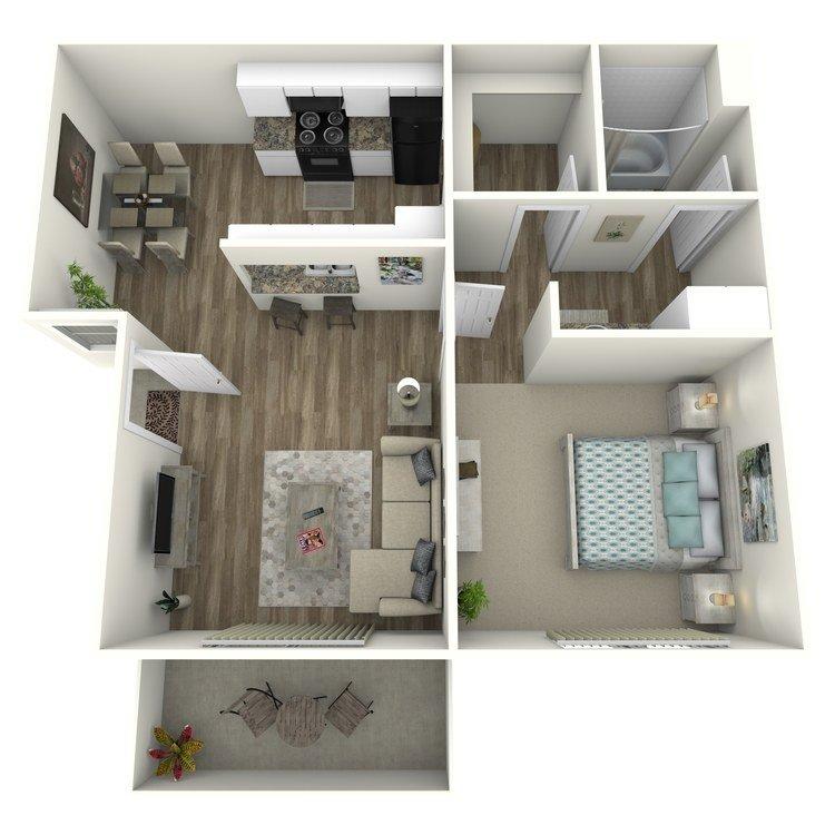 1 Bedroom 1 Bathroom Apartment for rent at Raintree Apartment Homes in Brea, CA
