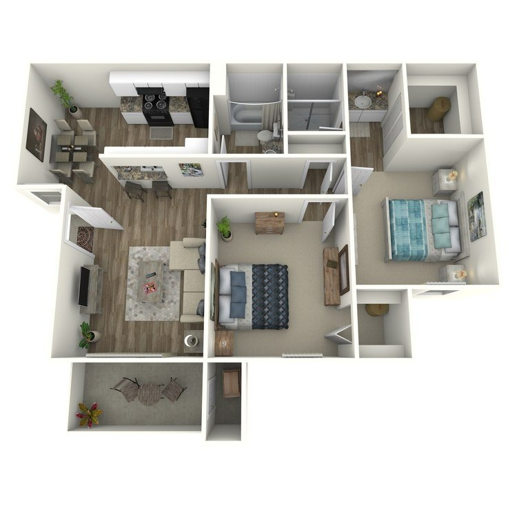 2 Bedrooms 2 Bathrooms Apartment for rent at Raintree Apartment Homes in Brea, CA