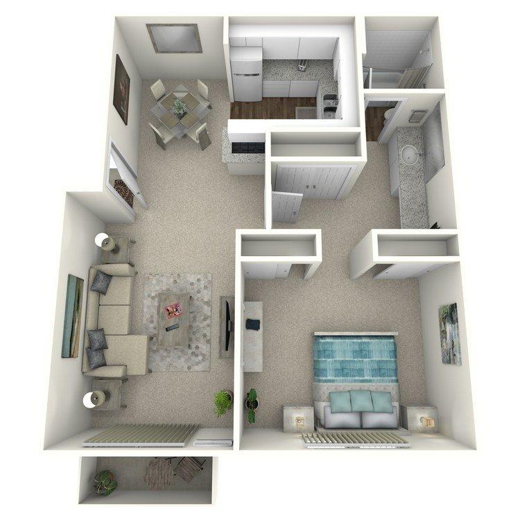 1 Bedroom 1 Bathroom Apartment for rent at R. C. Briarwood Apartment Homes in Fullerton, CA