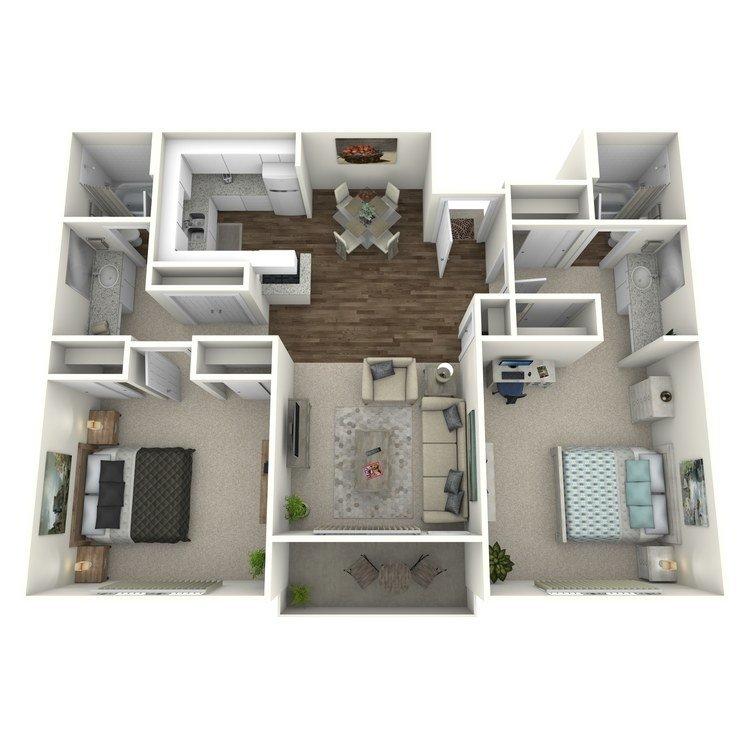 2 Bedrooms 2 Bathrooms Apartment for rent at R. C. Briarwood Apartment Homes in Fullerton, CA