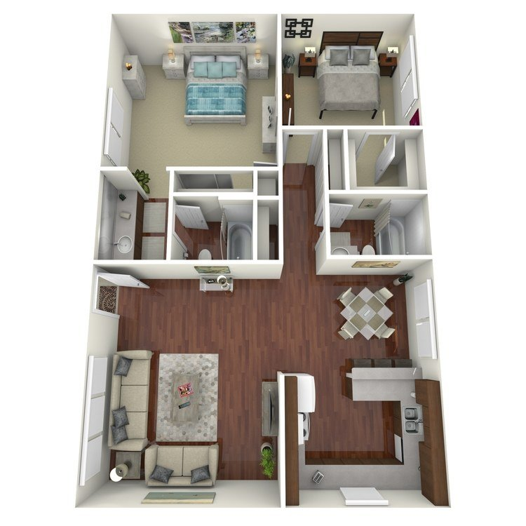 2 Bedrooms 2 Bathrooms Apartment for rent at Ridgewood Village Apartment Homes in Orange, CA