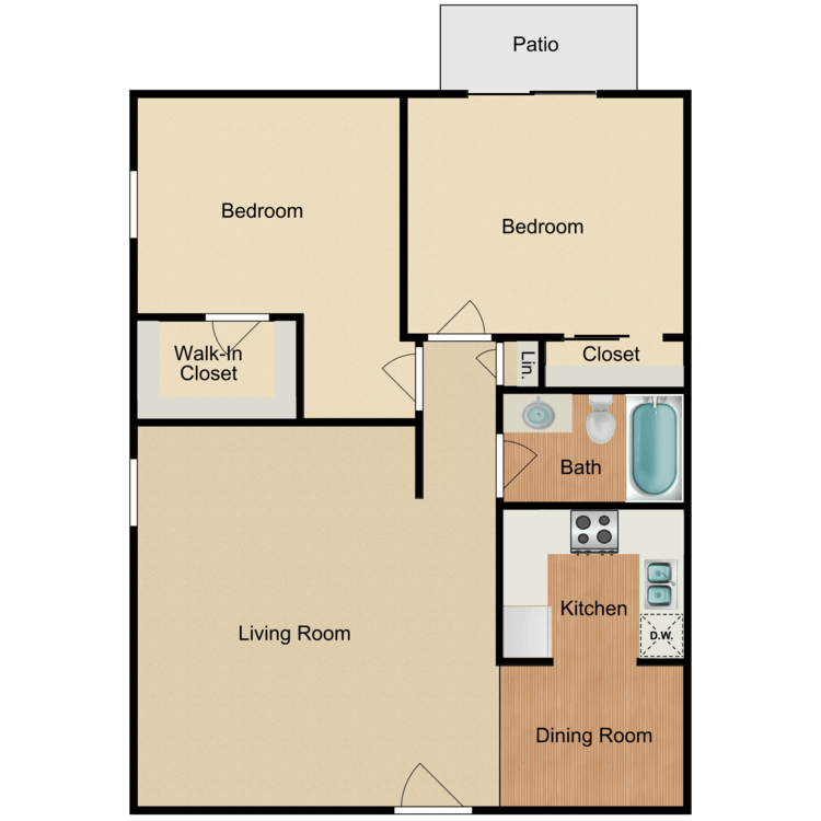 2 Bedrooms 1 Bathroom Apartment for rent at Rancho Vista Apartment Homes in Anaheim, CA