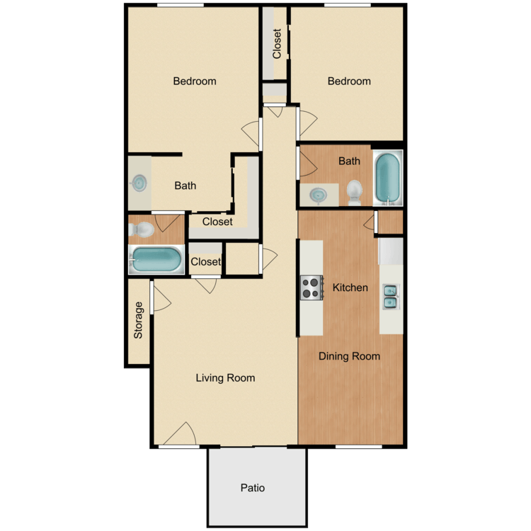 2 Bedrooms 2 Bathrooms Apartment for rent at Tamarack Woods Apartment Homes in Brea, CA