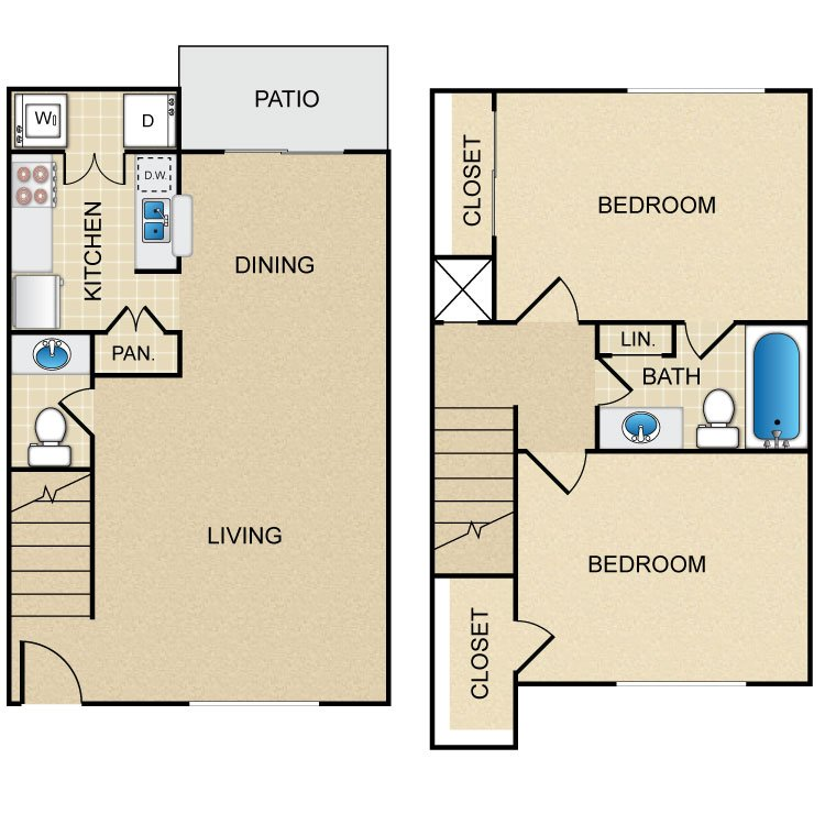 2 Bedrooms 1 Bathroom Apartment for rent at Rollingwood in Houston, TX