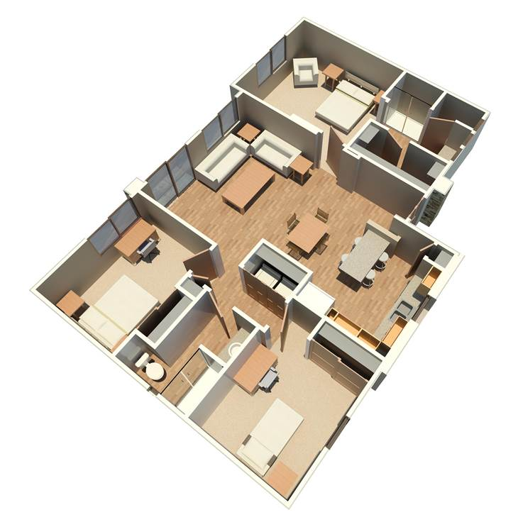 3 Bedrooms 2 Bathrooms Apartment for rent at Sabino Vista Apartment Homes in Tucson, AZ