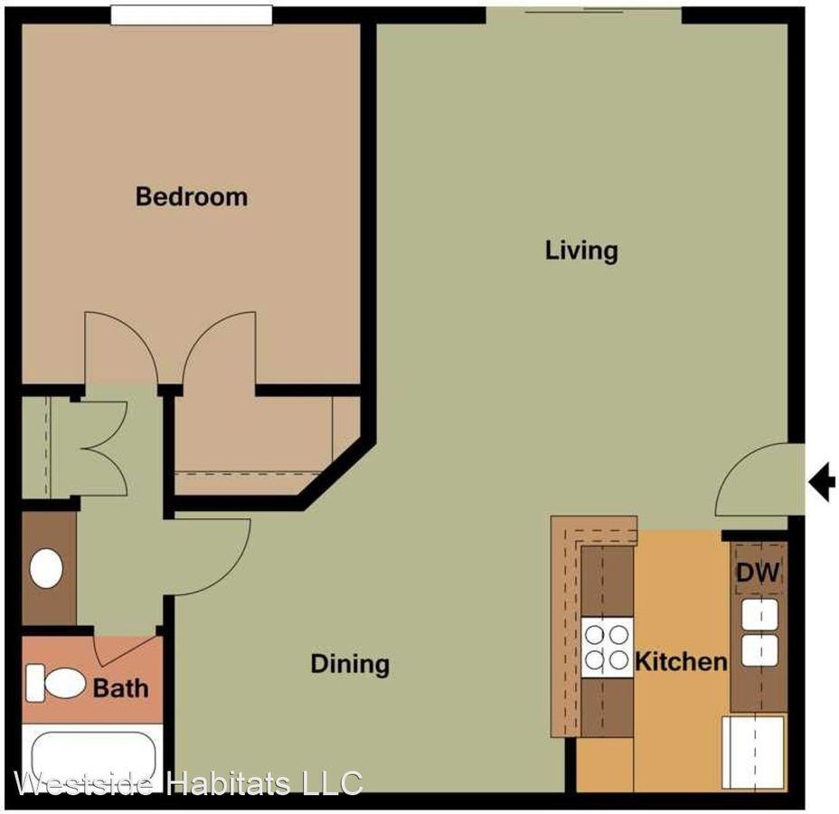 1 Bedroom 1 Bathroom Apartment for rent at 2039 N Las Palmas Ave in Los Angeles, CA