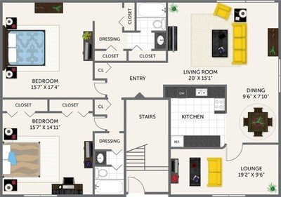 2 Bedrooms 2 Bathrooms Apartment for rent at Oak Park Apartments in Indianapolis, IN