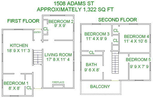 5 Bedrooms 2 Bathrooms House for rent at 1508 Adams Street in Madison, WI