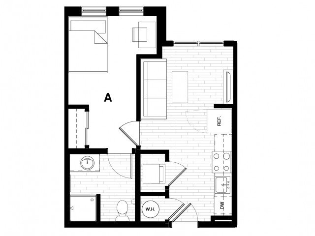 1 Bedroom 1 Bathroom Apartment for rent at Uncommon Athens in Athens, GA