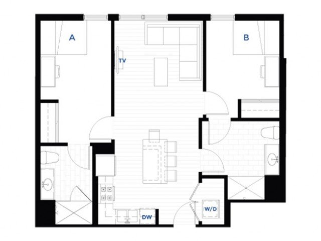 2 Bedrooms 2 Bathrooms Apartment for rent at West Quad in Champaign, IL